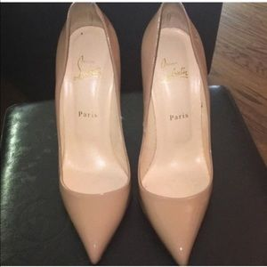 Shoes - Authentic Christian Louboutin Pigalle Nude Pumps